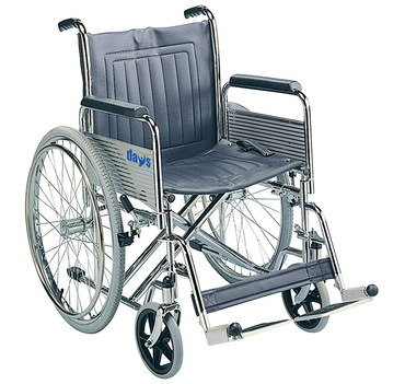 Sturdy Foldable Wheelchair With Leg Rests