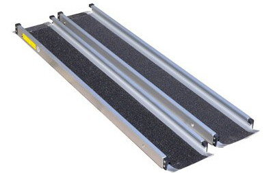 Ramp For Cars With Black Grit Safety Surface