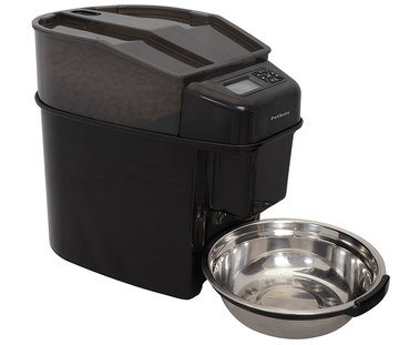 Timed Cat Food Dispenser With Steel Bowl