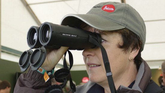 Woman With Hat And Binoculars