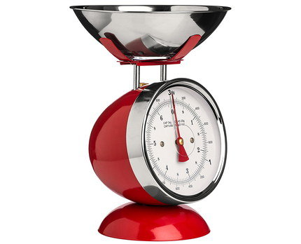 Traditional Mechanical Old Fashioned Scale In Red
