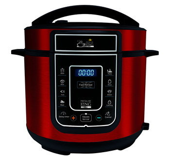 Large Slow Cooker In Red Finish