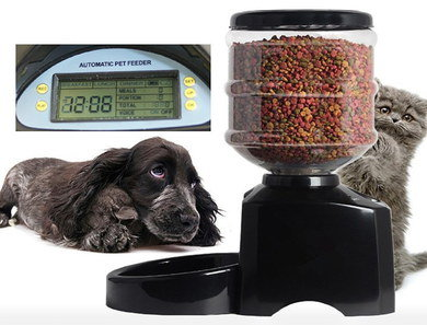 5.5L Cat Dry Food Dispenser With Digital Screen
