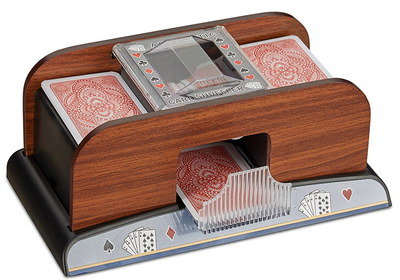Professional Shuffler Machine With Wooden Exterior