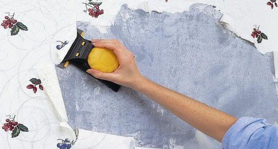 Flowered Wallpaper Removal