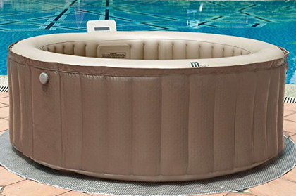 Massaging Garden Hot Tub With Brown Exterior