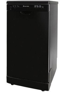 Black Freestanding Dishwasher With Black Exterior