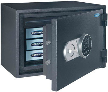 Fireproof Combination Lock Box In Black Steel