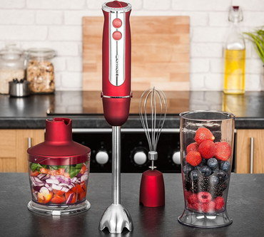 Heavy Duty Hand Blender In Bright Red