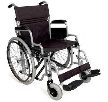 Small Lightweight Aluminium Wheelchair With Canvas Seat