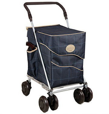 Grocery Carrier With Wheels And Big Handle