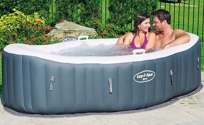 Blow Up Hot Tub With Couple Inside