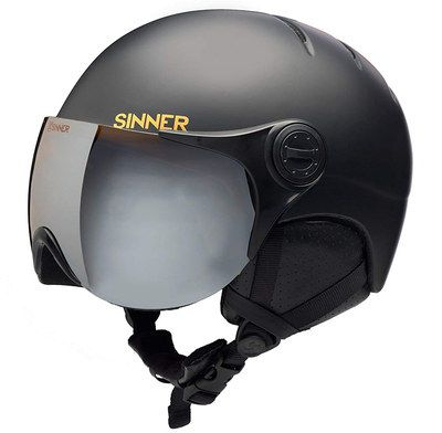 Unisex Ski Helmet In Black