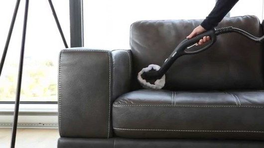 Black Sofa And Steam