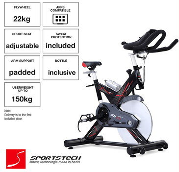 App Congenial Fat Burning Spin Bike With Sports Seat