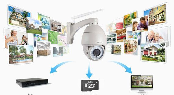 White Outdoor PTZ Camera