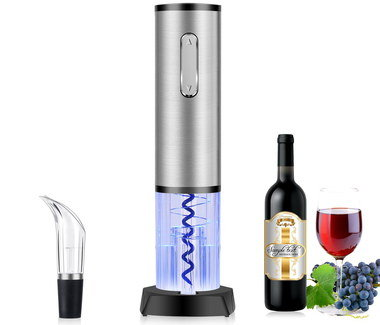Steel Electronic Wine Opener With Polished Exterior
