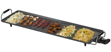 Dense Plate Teppanyaki Grill For Home With 2 Grips