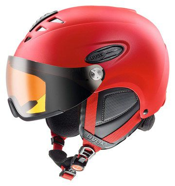 Bright Red Ski Helmet
