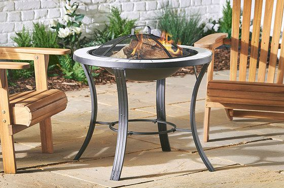 Steel Fire Pit Table In Black