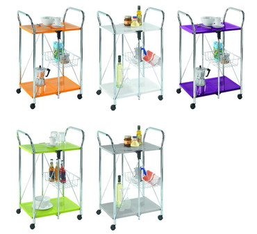 Folding Metal Drinks Trolley In 5 Colours