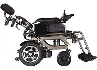 Folding Electric Wheelchair In Lean Position
