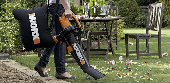 Leaf Blower Vacuum With Black Bag