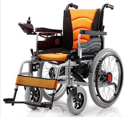 Wheelchair With Black Inflatable Wheels