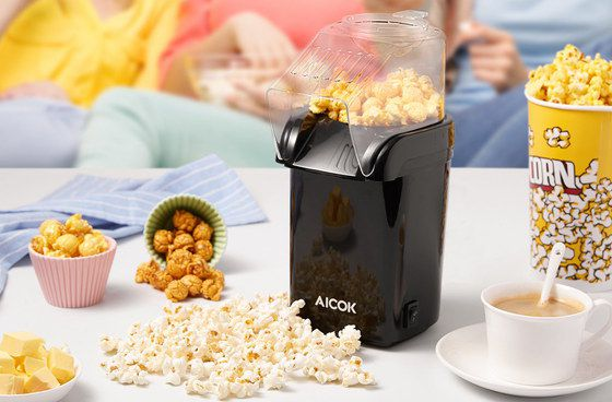 Popcorn Machine With Black Exterior