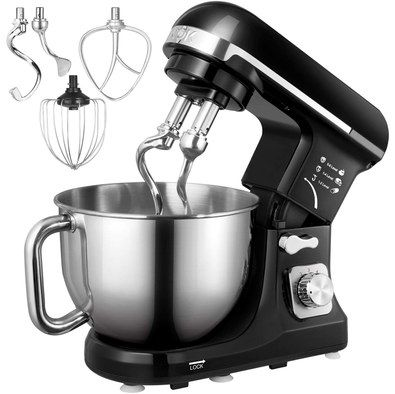 Bread Baking Mixer In Black And Steel