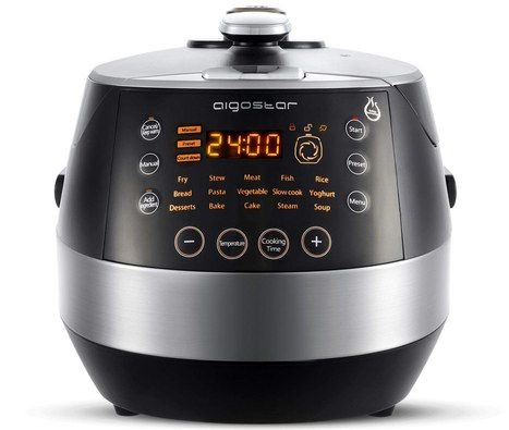 Large Pressure Cooker With LCD Screen Timer