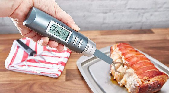 Wireless Meat Thermometer With Grey Grip