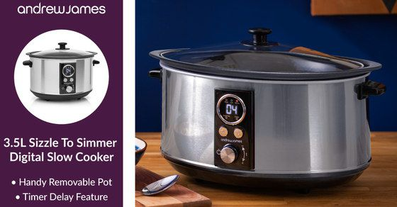 Slow Cooker With Brushed Steel Effect