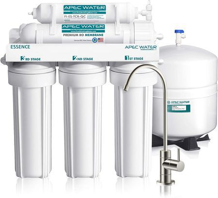 Domestic Water Filter In All White