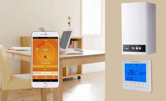 WiFi Thermostat With White Boiler