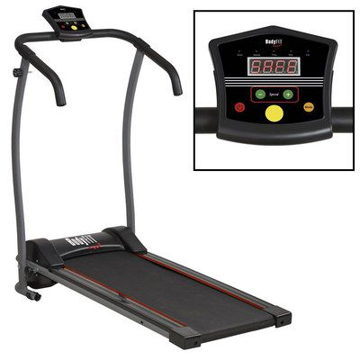 Folding Running Machine With Black Console