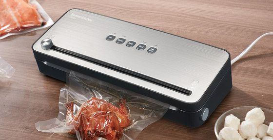 Vacuum Food Bag Sealer With Steel Cutter Knob