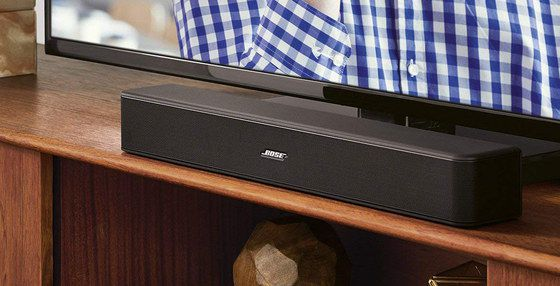 Soundbar For Music On Wooden Shelf