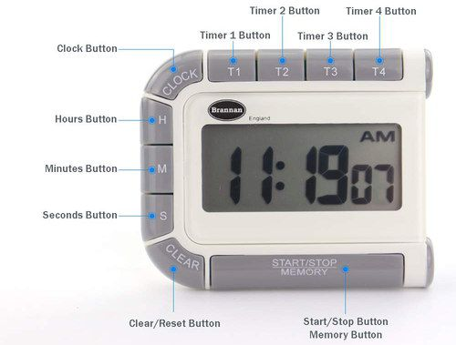 Cooking Timer With Grey Edge Buttons