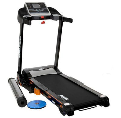 Foldable Small Treadmill With Black Rails