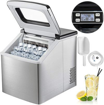 Ice Maker For Home Bar With Open Square Lid