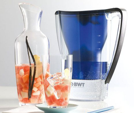 Water Filter Pitcher With White Base