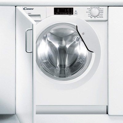 White Integrated Washer With Big Drum