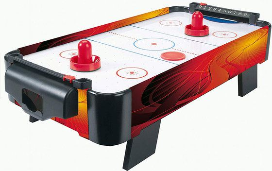Air Hockey Table Game With Red Pushers