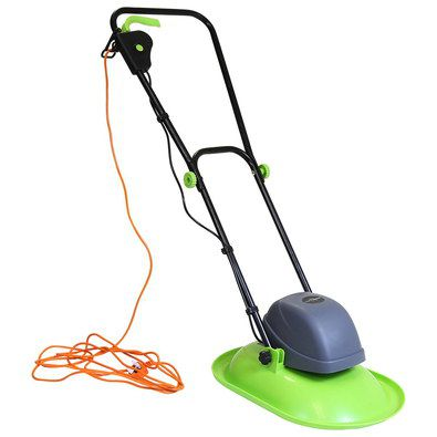 Electric Hover Lawn Mower With Long Orange Cable