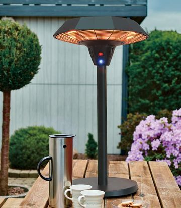 Table Top Patio Heater With Black Base