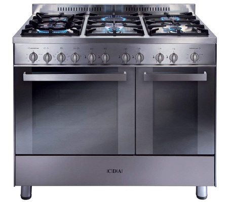 90cm Wide Gas Range With Steel Finish