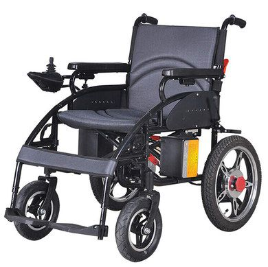 Motorised Wheelchair With Grey Chair Area