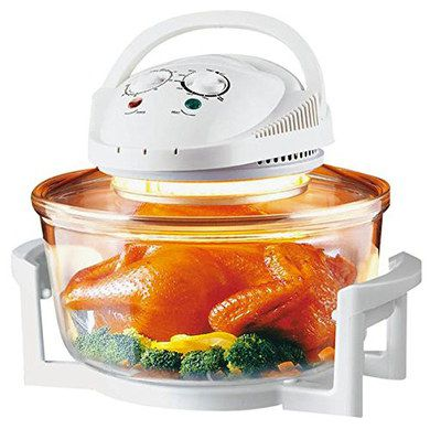 12L Halogen Oven With White Exterior