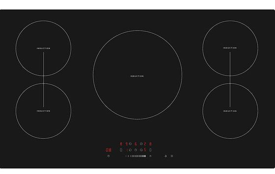 Big 5 Zone Induction Hob In Black